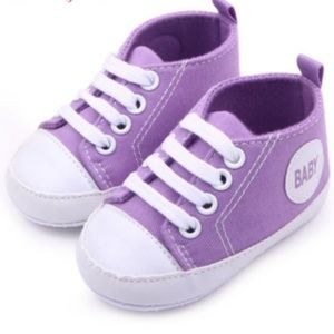 Other - Boutique baby sneakers in lilac size 6-12 mo